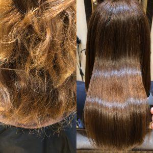 髪質改善縮毛矯正+カラー
